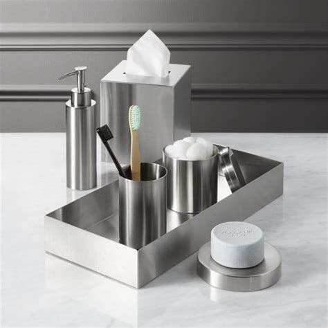 stainless steel bathroom stainless steel bath accessories cb2