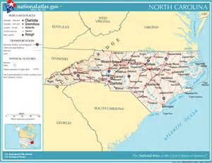 atlas map of carolina where is nc where is nc located in the