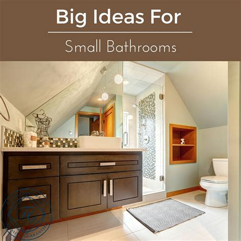Ideas For Small Bathroom Big Ideas For Small Bathrooms