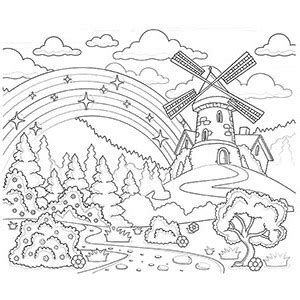rainbow coloring page for adults free printable rainbow coloring pages for kids