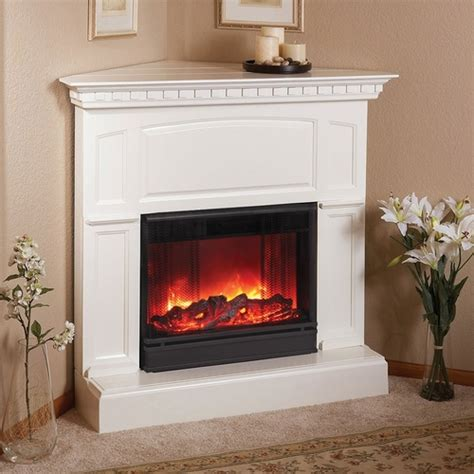 electric corner fireplace white heritage corner electric white fireplace by real