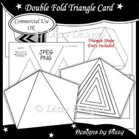 triangle card template fold triangle card template 163 3 00 instant card