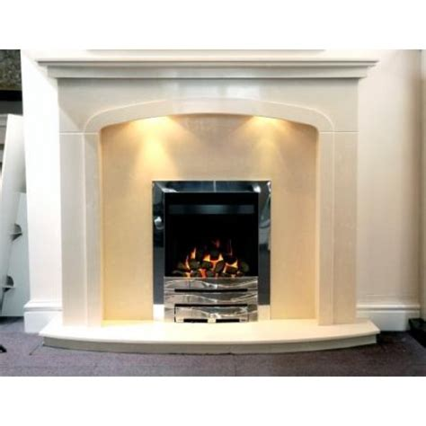 Total Fireplaces by Denton Arch Marble Fireplace