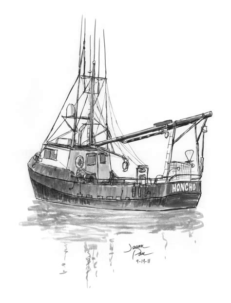 how to draw a boat engine fishing boat sketch by jdp89 on deviantart
