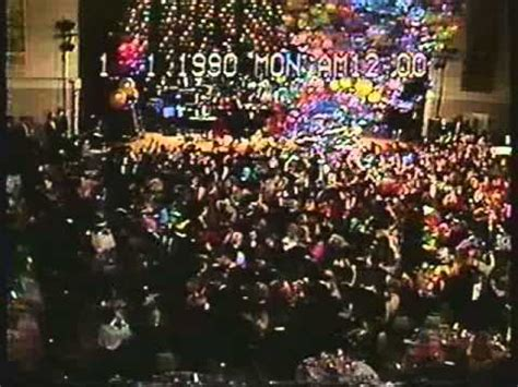 new year 1990 year of the new years at times square 1989 to 1990 from cbs