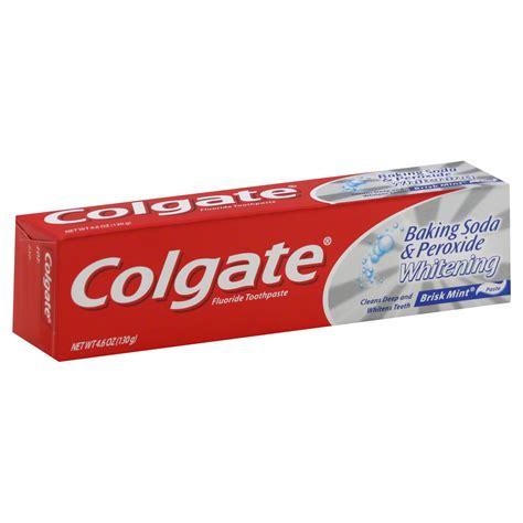 colgate baking soda peroxide whitening oxygen bubbles