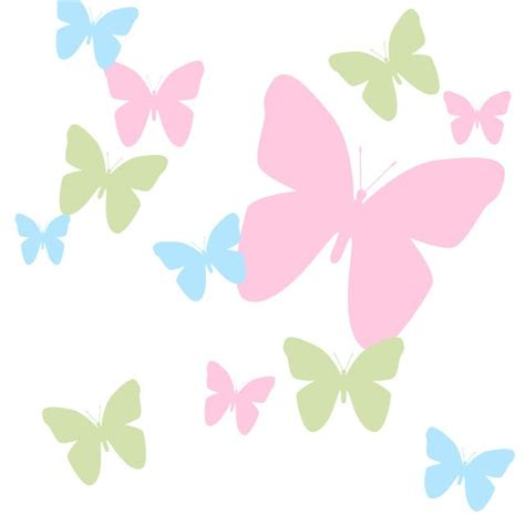 pink butterfly wall stickers butterfly pink blue and green wall decals