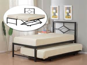 Daybed With Pop Up Trundle Bed Size Metal Hirise Day Bed Daybed Frame With Headboard Pop Up Trundle Ebay