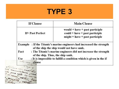pattern of conditional sentence type 3 conditional sentence ppt video online download