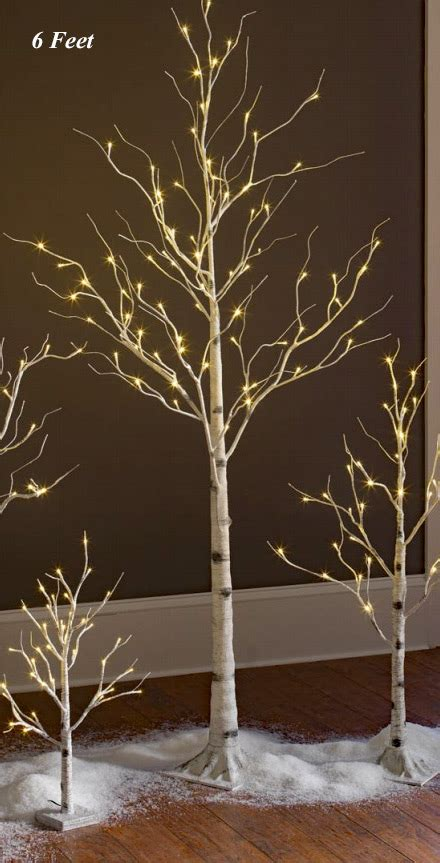 lighted trees for indoors lighted white birch tree 6 88 warm white led s