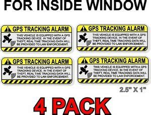 Vehicle Alarm Stickers