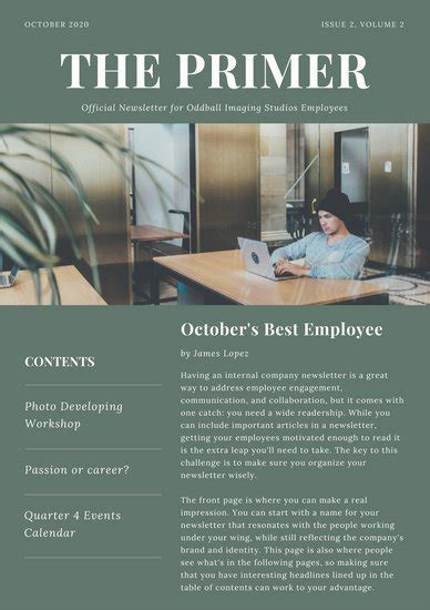 Customize 720 Newsletter Templates Online Canva Best Employee Newsletter Templates