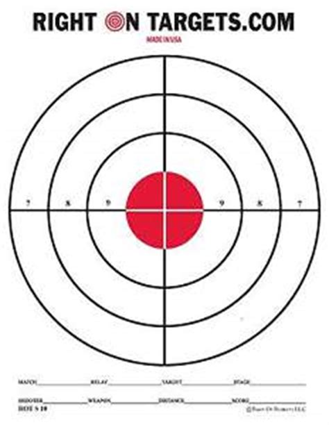 free printable targets 8 5 x 11 150 red bullseye shooting targets 3 8 5x11 pads of 50 new