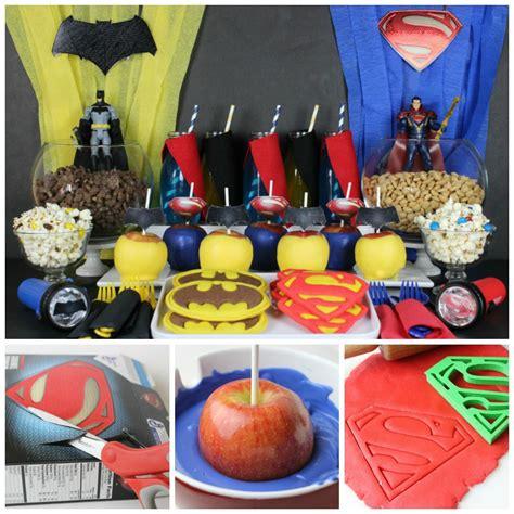 Birthday Decorations Diy by Diy With Batman And Superman Fandango