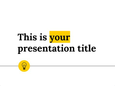 powerpoint templates free download yellow free presentation template minimal and clean design