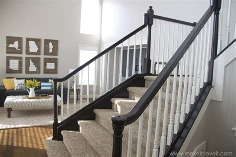How To Stain Banister For Stairs by How To Stain Paint An Oak Banister The Shortcut Method