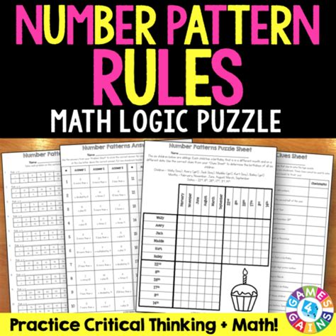 pattern rule games number pattern rules logic puzzle 5 oa 3 games 4 gains