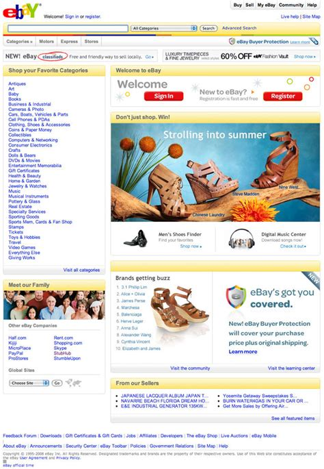 2 ebay home page