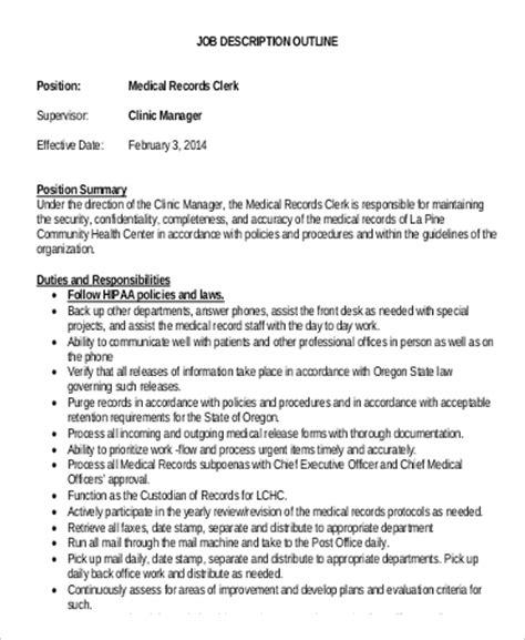 record clerk description 9 records clerk description sles sle