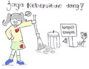 lisa putry kebersihan lingkungan sekolah
