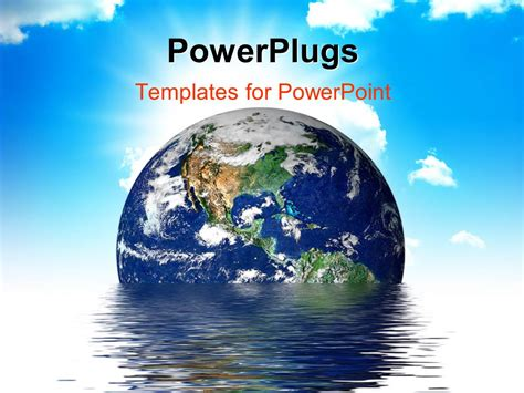 powerpoint themes for global warming powerpoint template earth melting into a puddle showing