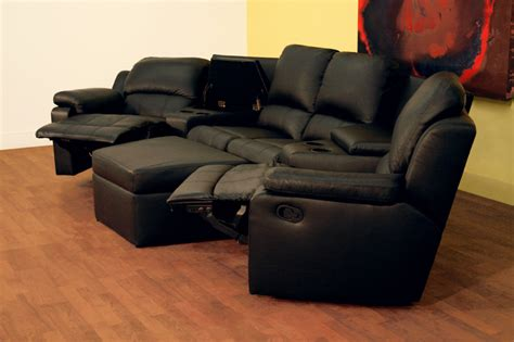 sectional home theater seating wholesale interiors four seat curved leather home theater