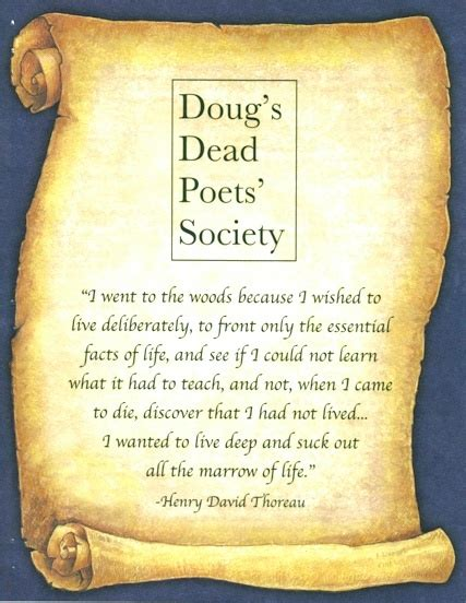 Novel Dead Poets Society doug s dead poet society to be read at the beginning of every meeting books and