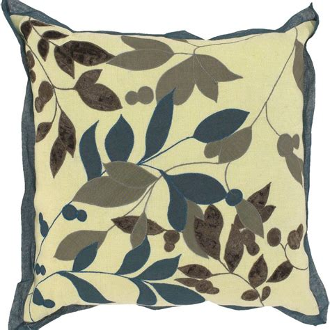 artistic pillows artistic weavers leavesb1 18 in x 18 in decorative