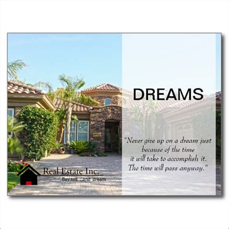real estate marketing postcards sles