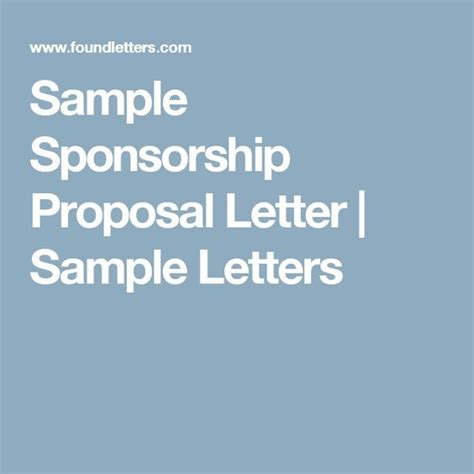 design proposal sponsorship 25 best ideas about proposal sle on pinterest sle