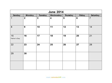 2014 june calendar template june 2014 calendar blank printable calendar template in