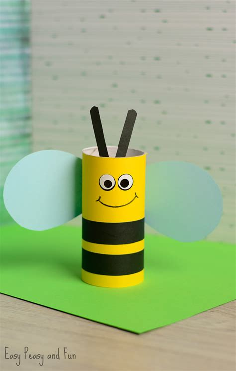 Toliet Paper Crafts - toilet paper roll bee craft for bee crafts toilet