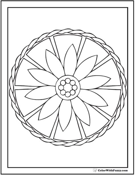 geometric circle coloring pages geometric coloring pages for kids daisy wheel