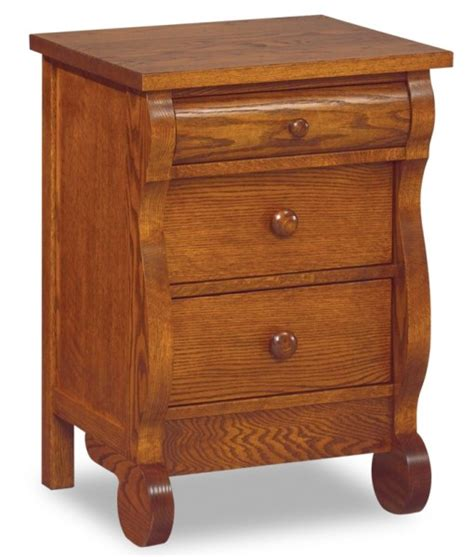 Narrow Nightstand by Classic Sleigh Narrow 3 Drawer Nightstand Amish