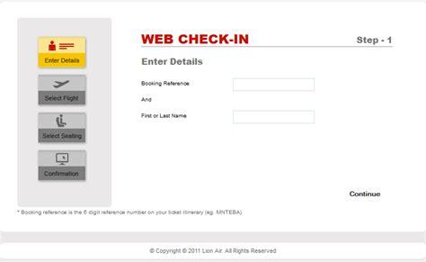 tutorial web check in lion air andhika padmawan s blog lion air web check in