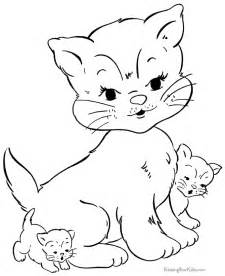 coloring pages cats kittens az coloring pages