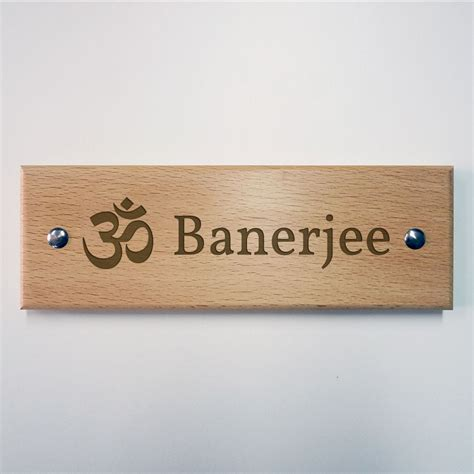 corian name plates engraved wooden name plate om