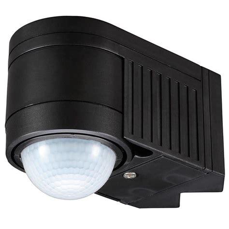 corner mounted exterior lighting luton outdoor 360 degree corner mount pir sensor black