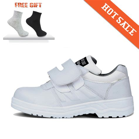 2016 new style breathable white safety shoes steel toe cap