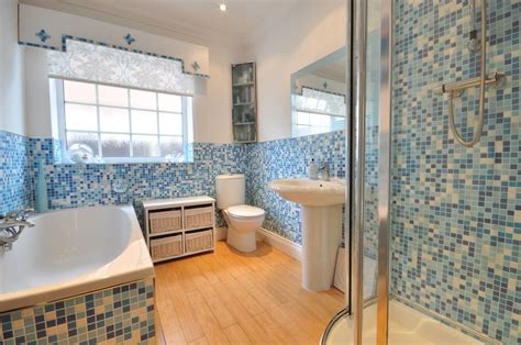 colourful blue bathroom design ideas photos inspiration