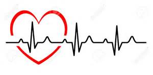 line clipart heart rhythm pencil and in color line