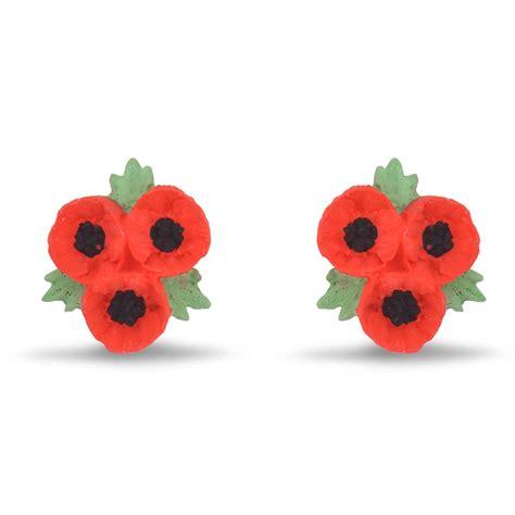 poppy shop poppy trio stud earrings jewellery