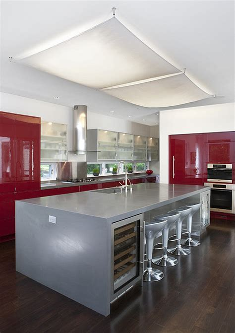silver kitchen cabinets red kitchen design ideas pictures and inspiration