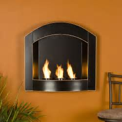 las cruces wall mount arch gel fuel fireplace black