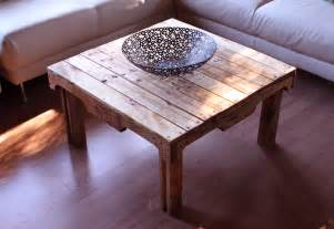 Coffee Table From Pallet Object Moved