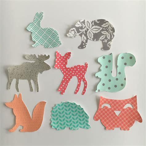 woodland animals iron on applique set binge crafter