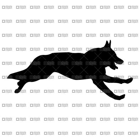free business cards templates german shepherd silhouette silhouette of running german shepherd vector clipart eps