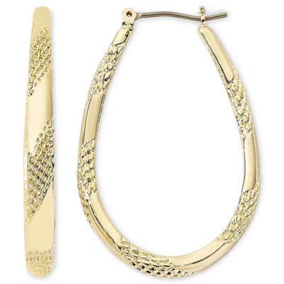 monet 174 gold tone large oval hoop earrings jcpenney