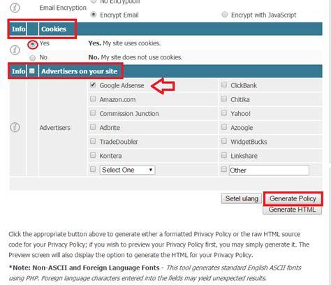 membuat gmail berbahasa indonesia cara paling mudah membuat privacy policy dan disclaimer