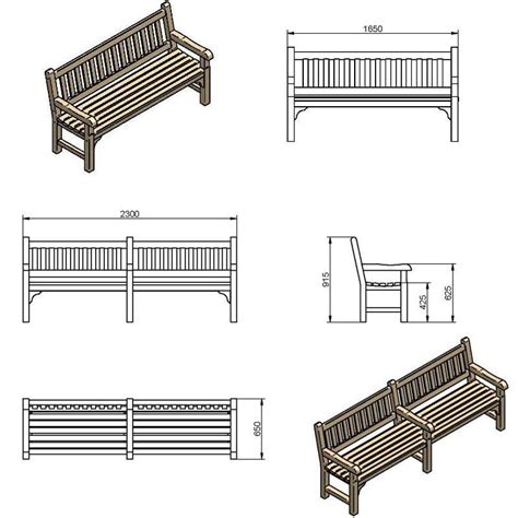 bench drawing bench line drawing
